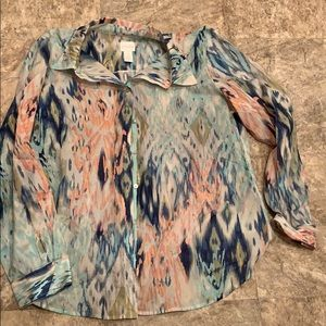 Button up long sleeve Chico's blouse